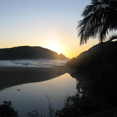 Port St Johns at sunset